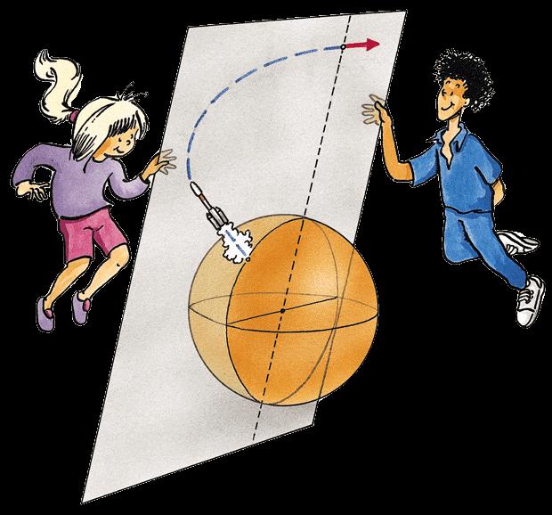 La trajectoire d'un satellite