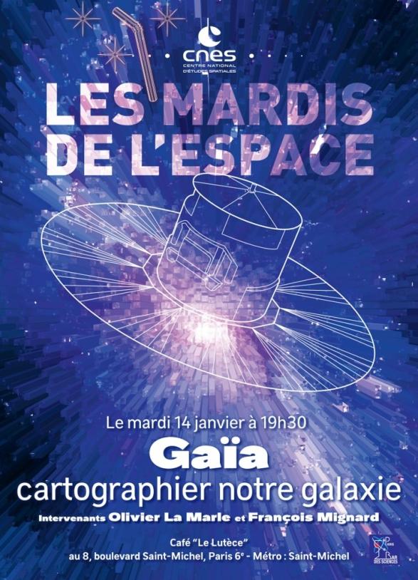 Affiche Mardi de l'Espace - Gaïa janvier 2020