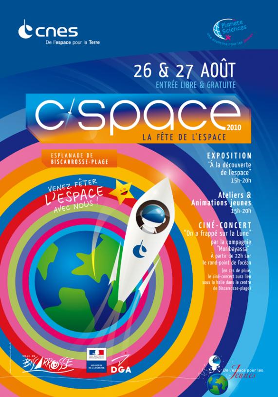 La fête de l'espace aura lieu les 26 et 27 août cette année. Crédits : CNES.