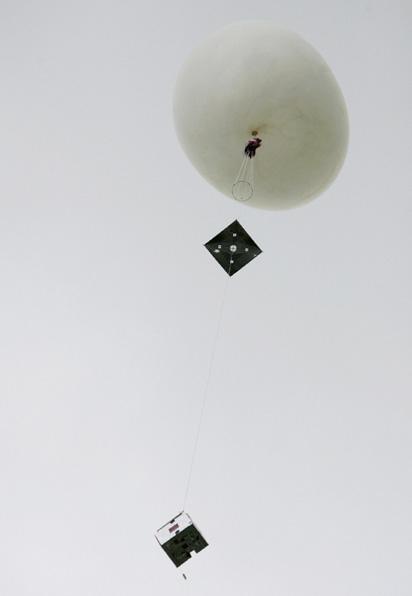 Ballon stratosphérique. Crédits : CNES/Agence REA/ Gilles Rolle.