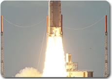 Décollage d'Ariane 5, vol 196, le 4 août 2010